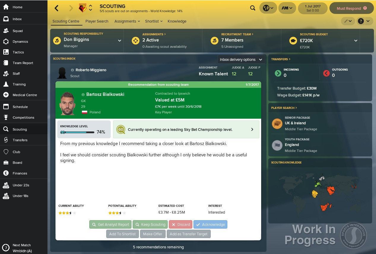 Football Manager 2018 Europe